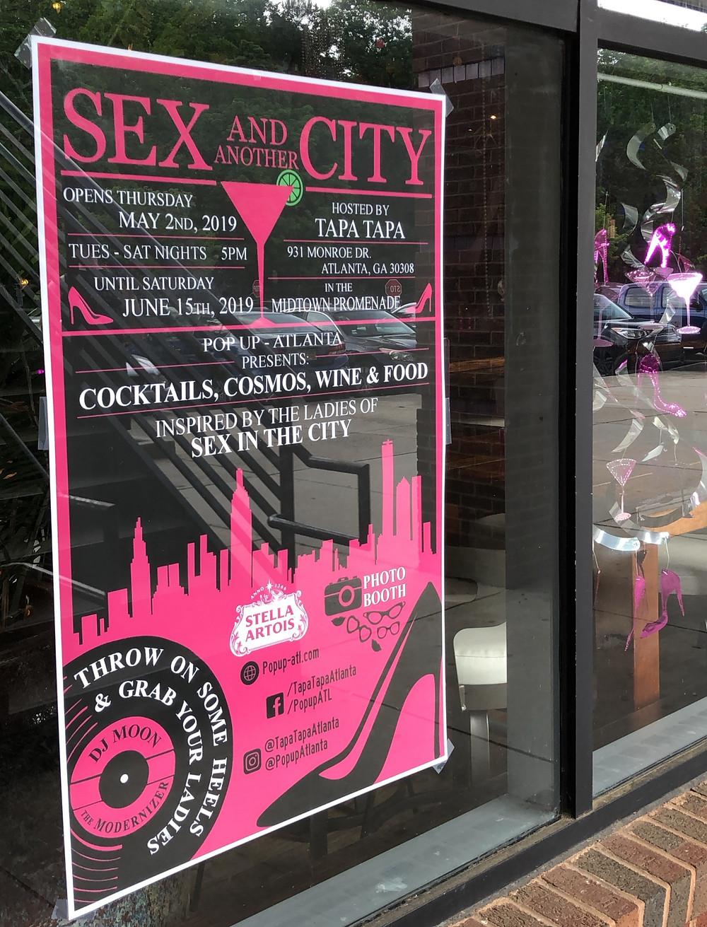 """""""Sex and Another City"""" pop-up at Tapa Tapa (Atlanta, GA)"""