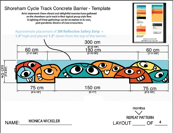 MONICA WICKELER:Shoreham cycle track bar