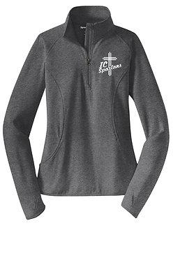 Ladies Sport Tek Brush Lined 1/4-Zip Pullover
