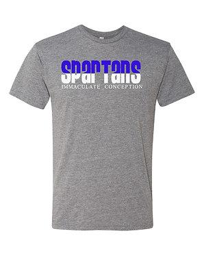 Glitter Design Grey Triblend Tee-Shirt