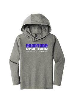 Glitter Design Grey Hooded Long Sleeve