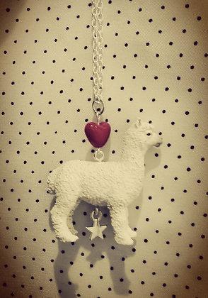 Collier Lama-love