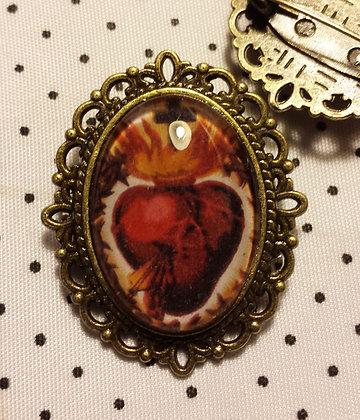 Broche camée Sacré coeur 4