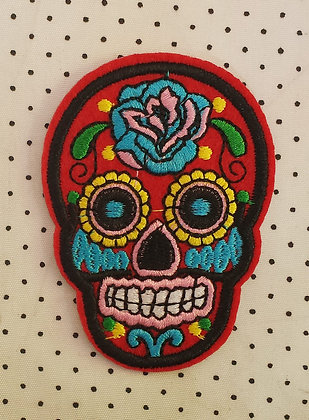 Patch Mexican Skull Rouge