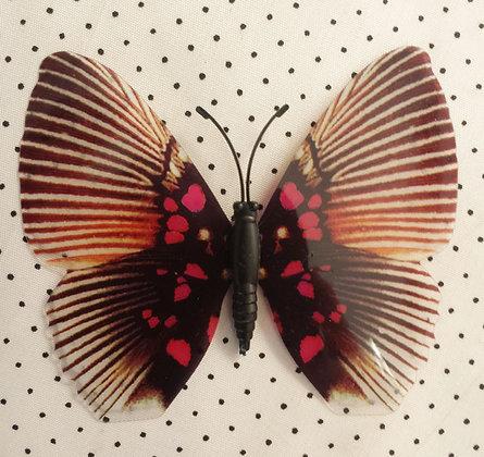 Magnet papillon rose