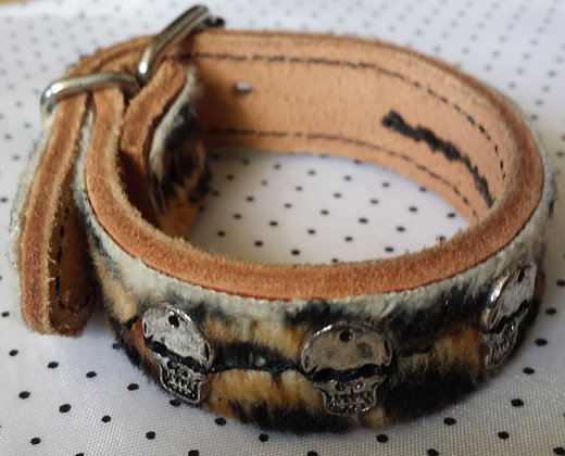 Bracelet Leopard à Tetes de mort