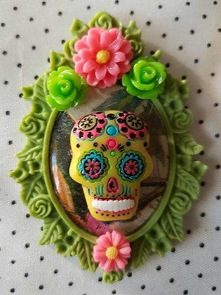 """Grande broche """"Mexican skull"""" 5"""