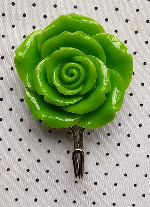 Crochet de salle de Bain rose verte