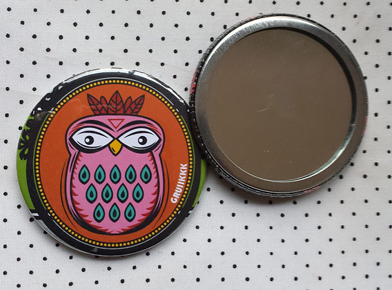 "Miroir  ""Hibou orange"""