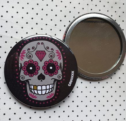 """Miroir  """"Skull grise"""""""