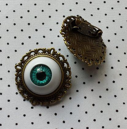 """Broche camée """"Oeil bleu"""""""