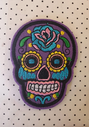 Patch Mexican Skull Violet