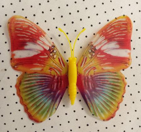 Magnet papillon multicolore