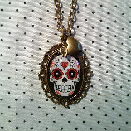 Collier Red Skull
