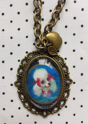 "Collier ""Blue Poodle"""