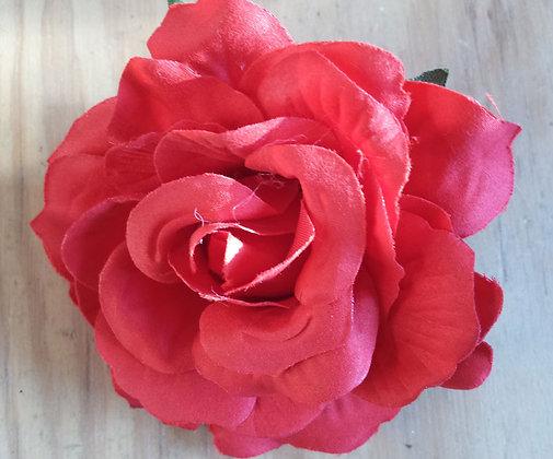 Barrette rose rouge