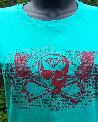 T-shirt Pirate/skull Bleu