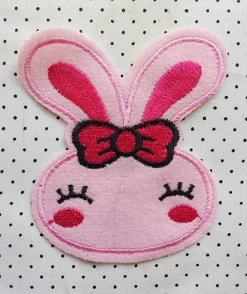 Patch Lapin rose