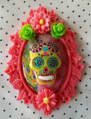 """Grande broche """"Mexican skull"""" 7"""