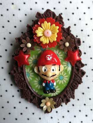"Grande broche ""super Mario flowers"""