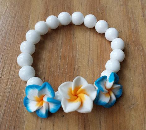 """Bracelet """"aloha"""" bleu"""
