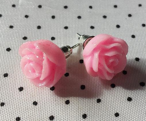 """Boucles d'oreilles """"roses""""  paillletées"""