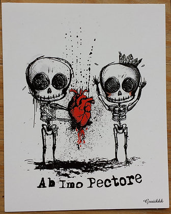 "Carte postale ""Ab imo pectore"""
