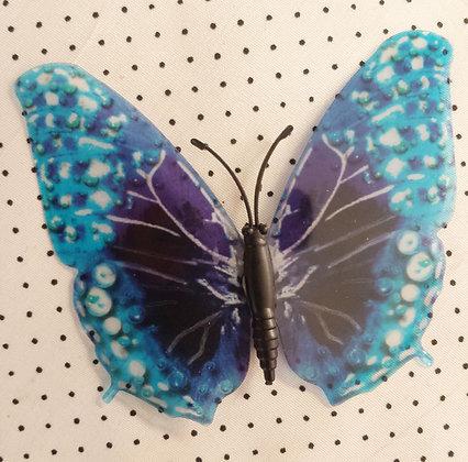 Magnet papillon bleu
