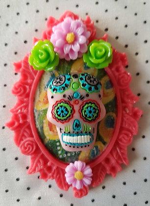 """Grande broche """"Mexican skull"""" 6"""