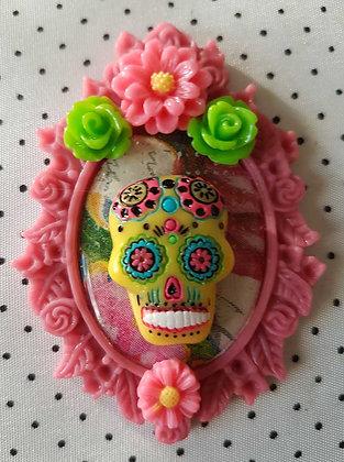 """Grande broche """"Mexican skull"""" 4"""