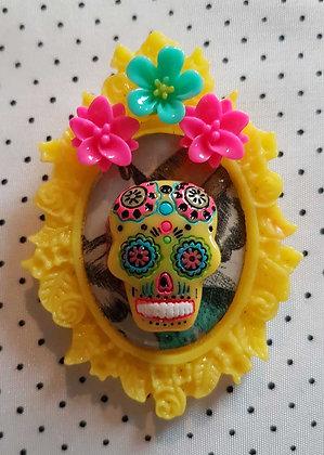 """Grande broche """"Mexican skull"""" 2"""