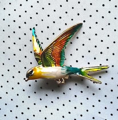 Broche Yelllow bird