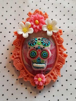 """Grande broche """"Mexican skull"""" 1"""
