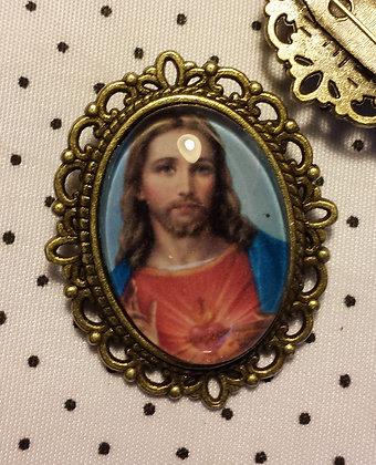 Broche camée Jesus Christ!