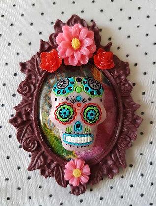 """Grande broche """"Mexican skull"""" 3"""