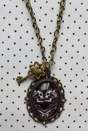 Collier Love Skull