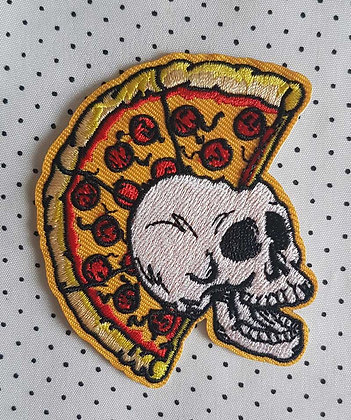 "Patch "" Pizza Skull"""