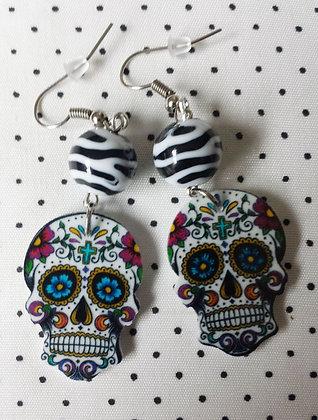 BO mexican skull 2 zèbre blanc