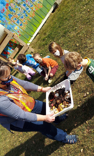 Learning all about composting with Mrs. Rusch.