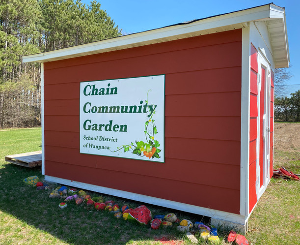 Chain Community Garden Shed.