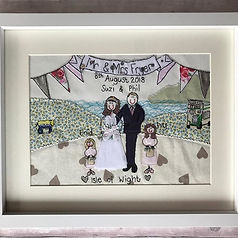 Beautiful wedding gift 8x10inch cotton h