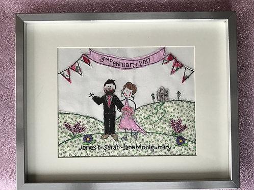 Medium Framed Embroidery