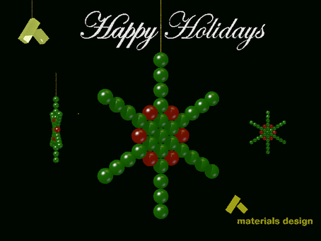 Happy Holidays from Materials Design