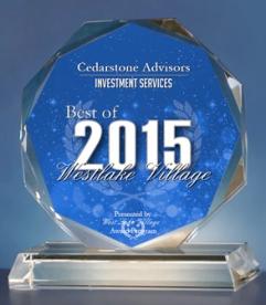 Cedarstone Awarded Best of 2015 for Westlake Village