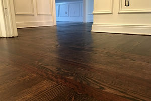 Stained red oak