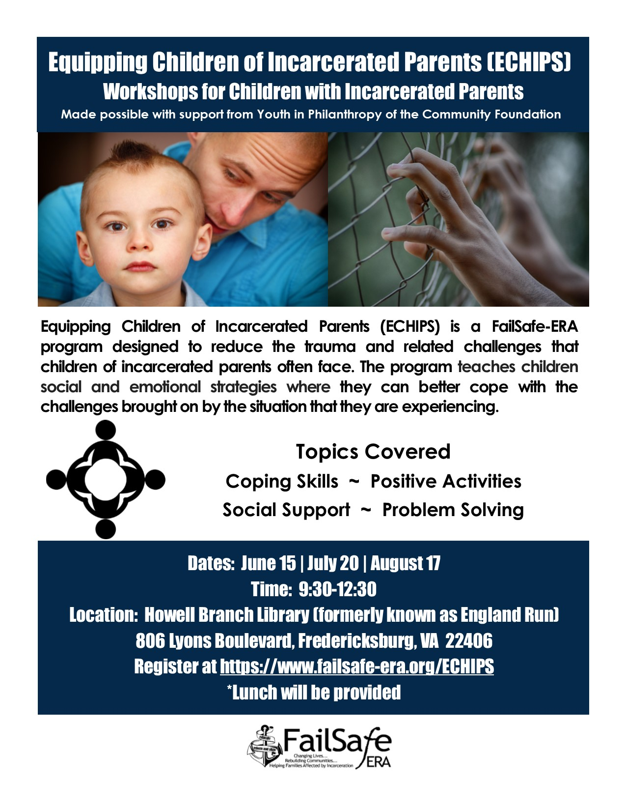 Kids With Parents In Prison Often Deal >> Equipping Children Of Incarcerated Parents Echips Workshops