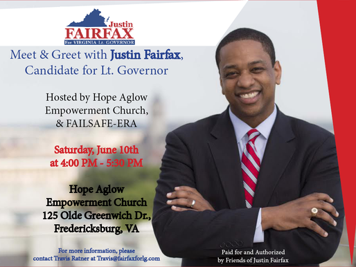 Meet & Greet with Justin Fairfax, Candidate for Lt. Governor