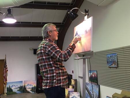 Steve Ross paints for me.