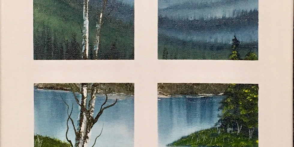 2 SEATS LEFT Youth 3-hr Paint Like Bob Ross class (age 10-18)