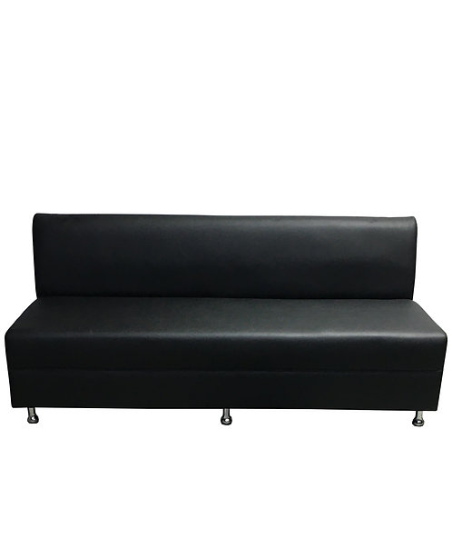 Sleek Sofa - Black Leather